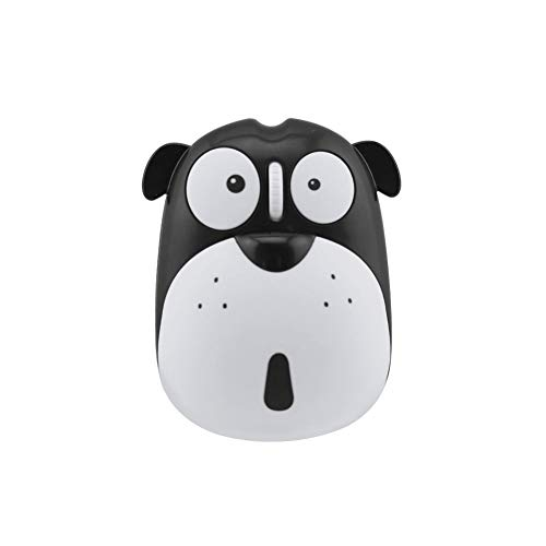 Cute Wireless Mouse, Cartoon Dog 2.4GHz Rechargeable Cordless Mouse with Nano USB Receiver Children Mice Kids Gaming Mouse for Notebook,Laptop,PC,Desktop (Black)