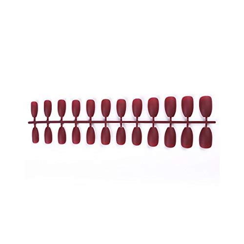 Appuyez sur les onglets des ongles 24 pièces/sac coloré mat faux ongles conseils artificiels pleine couverture naturel faux ongles conseils nail art design outils accessoires-05-