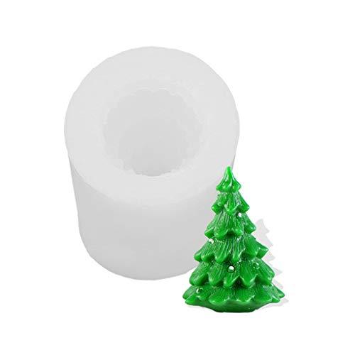 N/A. Molde de vela de árbol de Navidad 3D molde de jabón de arcilla de silicona,Cocina casera DIY Chocolate Fondant Cake Decoración Herramientas para hornear