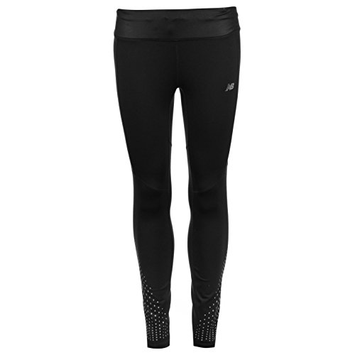 New Balance Women's Matte Shine Cold Weather Tech Tight, Black, L