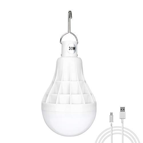 Luz de camping regulable LED foco 5 modos de iluminación USB recargable para colgar luces 30 W linterna portátil foco de luz para acampada/patio/jardín/barbacoa