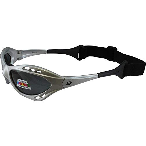 Silver Polarized Sunglasses Floating Water Jet Ski Goggles Sport Designed for the demands regularly encountered while Kite Boarding, Surfer, Kayak, Jetskiing, other water sports.