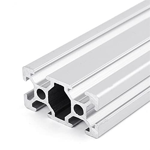 QFDM Stainless steel linear guide 4pcs/lot 100-600mm 2040 Aluminum Profile Extrusion Length Linear Rail 200mm 400mm 500mm for DIY 3D Printer Workbench Easy to install (Guide Length : 450mm)