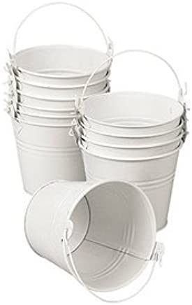 Amazon Wedding Favors Tin Pail 2 Oz White Favor Set Of 12