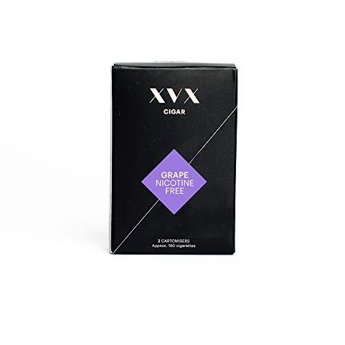 XVX CIGAR Refill - Electronic Cigar Refill - Grape Flavour - 1800 Puffs Per 2 Pack - 900 Puffs Per Cartridge - E Cigarette - E Cigarettes Shisha - Nicotine Free