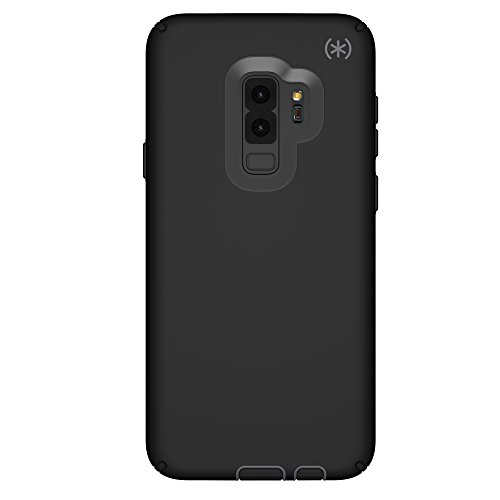 Speck Products Compatible Phone Case for Samsung Galaxy S9 Plus, Presidio Sport Case, Black/Gunmetal Grey/Black