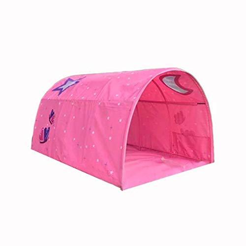 CNMGB Bett-Zelt Spielhaus Baby nach Hause Schutz Junge Mädchen Kriechtunnel Kindersicherheitshaus Tunnelzelt,Rosa