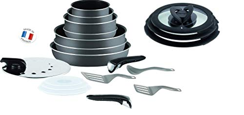 Tefal Ingenio 19 Piece Pan and Accessory Set Anthracite Grey Non Induction