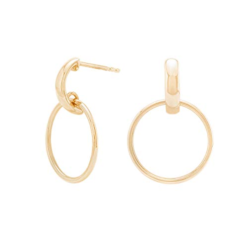 Ohrringe Silber oder Ohrringe Gold. Ohrringe hängend aus 925 Sterling Silber und 14K Gold Plattierung. Handgearbeitete Ohrstecker Gold, designed in Deutschland. (Gold)