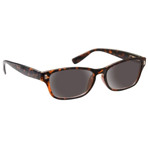 UV Reader Brown Tortoiseshell Sun Readers Reading Glasses Sunglasses UV400 Mens Womens Spring Hinges UVSR010 +1.00