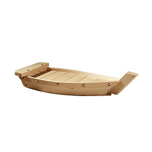 vrsupin0 in Legno Sushi Barca, Giapponese Sushi Barca Sashimi Vassoio Creativo Barca a Forma di in Legno Articoli per la Tavola Adatto per Ristorante, Catering Evento, Famiglia Festa