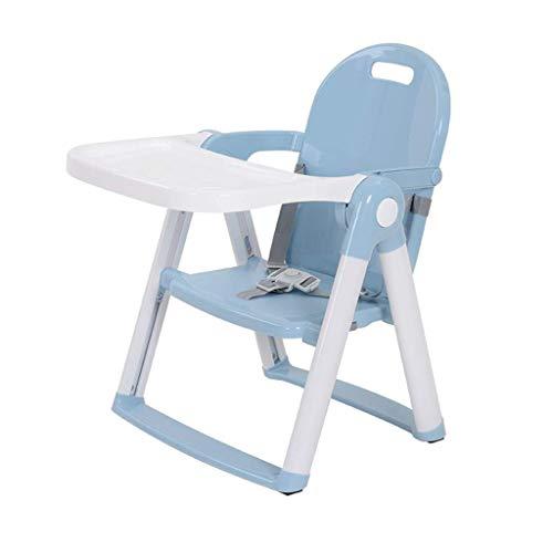 Kylin-aq Chaise haute avec plateau pivotant, chaise haute, chaise for tout-petit et rehausseur (Color : Blue)