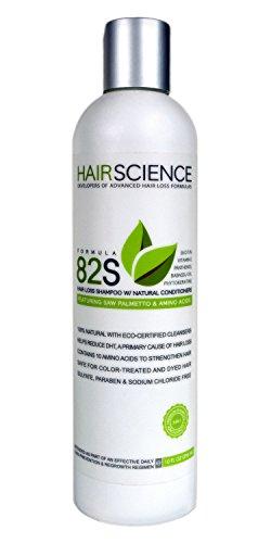 Hair Science Formula 82S | Hair Loss Shampoo with Natural Conditioners | Contains DHT-blocker: Saw Palmetto + Panthenol, Biotin, Phytokeratine, Vitamin E, Babassu Oil, Seaweed Extract & Amino Acids