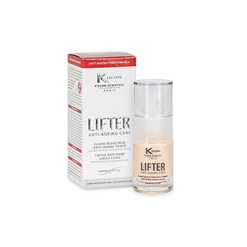 Title, Proposed Value : K'Derm - Lifter Fluide Réducteur Anti-Cernes Teinté, aux Bio-Peptides de Kappa-Elastine - Soin Contour des Yeux - Flacon-Pompe - 15ml