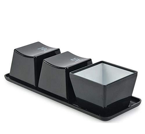 QFERW Becher 3 STÜCKE Tastatur Taste Modellierung Tasse Tee BecherKunststoff WasserTasseKaffee Milch Mischen BecherTee Smart Mix Tasse, weiß