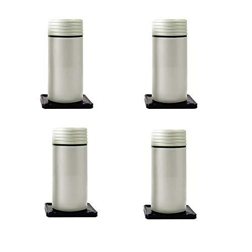 Furniture legs WYZQQ meubelpoten (set van 4) verstelbare kunststof poten sofa kast televisiekast salontafel voeten rood lager 120kg