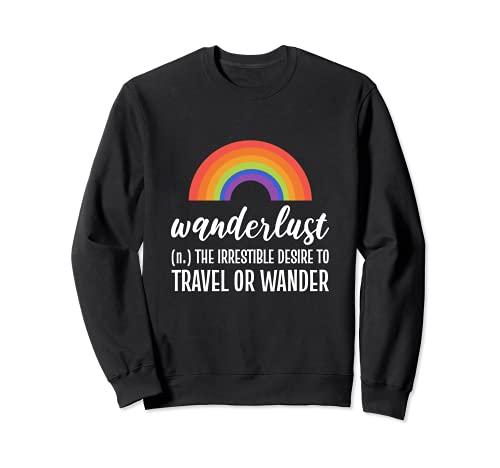 El deseo de los turistas de viajes y Explorador Sudadera