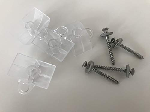 Set aus je 100 Stück Abstandhalter & Spengler-Schrauben TX20 EPDM-Dichtscheiben 4,5x45mm für Trapez-Sinus Profil 76/18 Wellplatten PMMA Acrylglas Polycarbonat