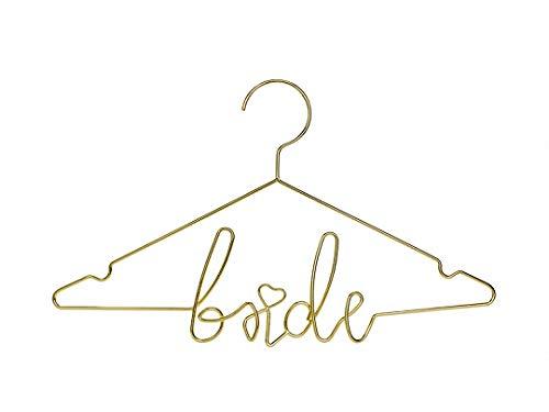 Miss Lovely Kleiderbügel Bride aus Metall in Gold/Hochzeits-Accessoires Braut Hochzeits-Deko Dekoration Brautkleid Zubehör Hochzeitszeremonie JGA Junggesellinnenabschied