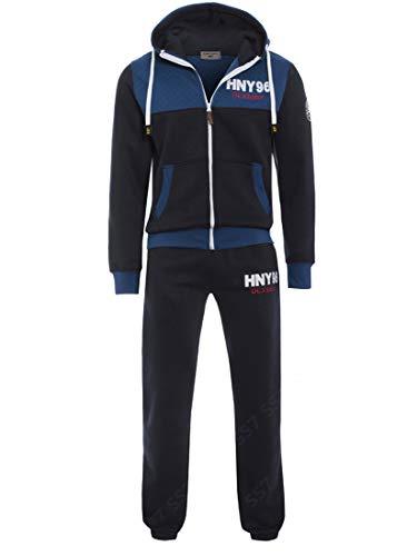 SS7 Jungen Design Trainingsanzug, schwarz, Marineblau, Alter 7 bis 13 Jahre - Marine, 158