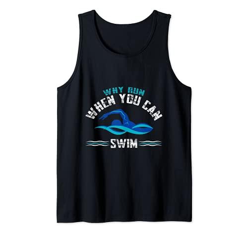 Piscina salvavidas socorrista natación nadador Camiseta sin Mangas