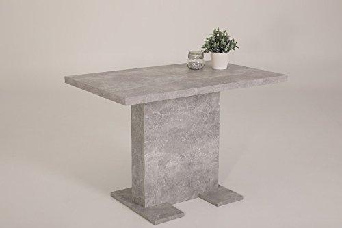 Eternity-Möbel Esstisch Säulentisch - Bugsy - Ausziehtisch Tisch ausziehbar in Betonoptik