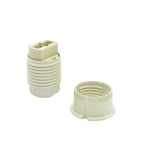 Set G9 Fassung Halogenlampen-fassung mit rückseitigem Steckanschluß, Isolierhaube M10x1 mit Aussengewinde u. Schraubring 20,8x2