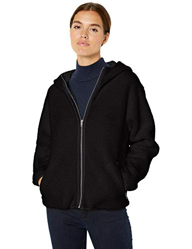 Daily Ritual Teddy Bear Hooded Zip outerwear-jackets, schwarz, US S (EU S - M)