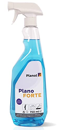 Plano FORTE - Profi Kunststoffreiniger & Nikotinentferner (750ml) - Stark als Ruß-, Kleberest- und Etikettenentferner auf Fensterrahmen, Gartenmöbeln und Oberflächen aus Kunststoff, PVC und Plastik