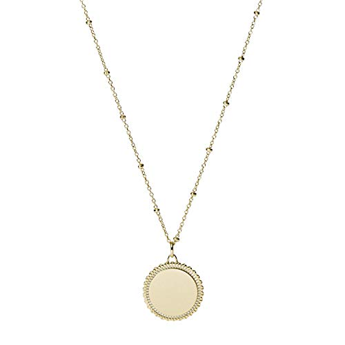 Fossil Women's Stainless Steel Rose Gold-Tone Pendant Necklace