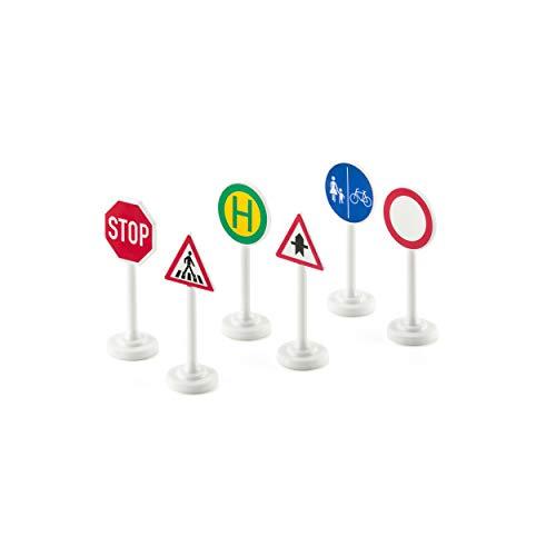siku 0857, Verkehrszeichen-Set, 6-teilig, Kunststoff, Multicolor, Einfache Integration in siku-Spielwelten
