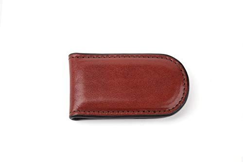 Bosca Old Collection-Magnetic Money Clip, Cognac Leather