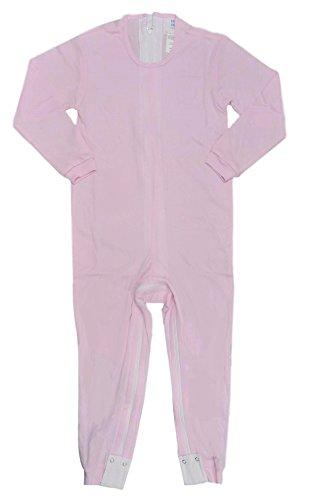 Benefit Wear Erwachsene Anti-Strip Dignity Jumpsuit und Einteiler Bodys mit Innenbein-Reißverschlüssen - Pink - X-Large