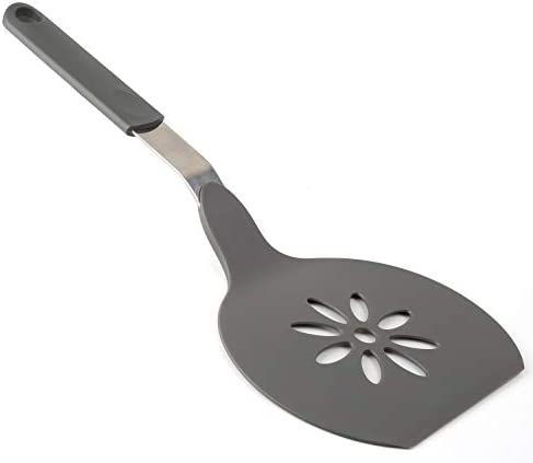 Homi Styles Jumbo Nylon Pancake Spatula Wide Non Stick Slotted Blade with Floral Cut Out Design product image