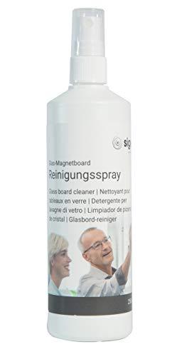 SIGEL GL186 Spray limpiador para pizarras de cristal magnéticas, pizarras blancas, 250 ml