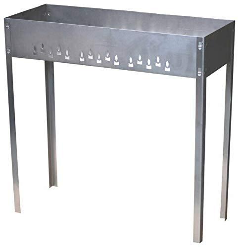 Mangal Mega Stahl 1 mm Schaschlikgrill Grillfläche 80cm x 30 cm Grillzubehör