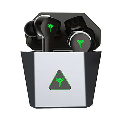 ZJ Auriculares inalámbricos Bluetooth TWS Mini Auriculares para Juegos Auriculares inalámbricos para Juegos 5.0TWS Auriculares con cancelación de Ruido(Color:B)