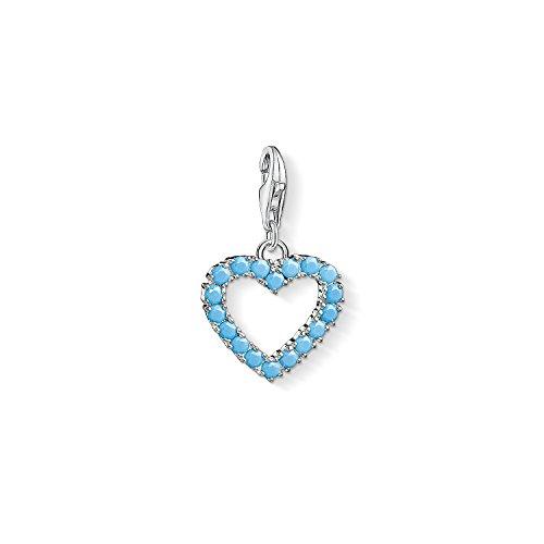 THOMAS SABO Damen-Charm-Anhänger Herz Pave Charm Club 925 Sterling Silber 1569-416-14