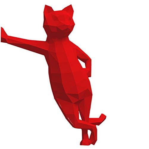 HAiHALA Modelo De Papel 3D Gato Animal, DIY Pre-Cut Papercraft, Papel Pre-Cut Craft Papel Papel Geométrico Origami Puzzle Decoración De La Pared,3