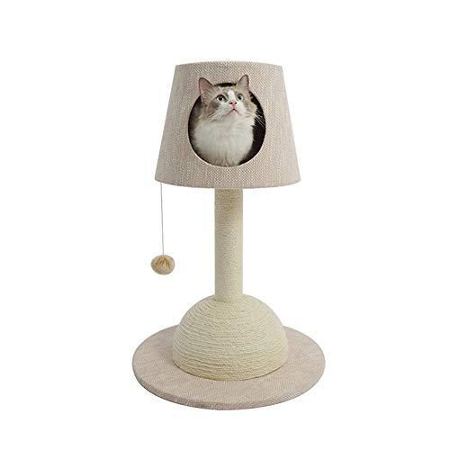 HO-TBO Katzenspiel-Baumturm, Cat Climbing Tree Lampe Cat Climbing Tree Katzenstreu Cat Scratching Column Kleine Massivholz-Kratzbaum Exklusiver Raum