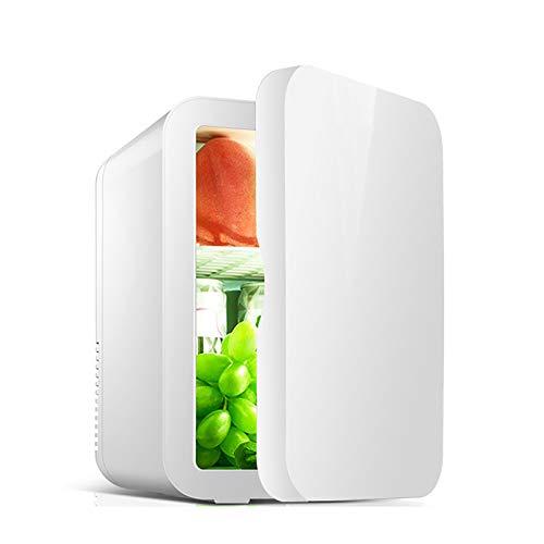 GSYNXYYA Mini refrigerador, refrigerador de Cuidado de la Piel de Maquillaje Profesional de 8L, refrigerador de bajo Ruido de enfriamiento, refrigerador de Coches con semiconductor de 12V,Blanco,8L