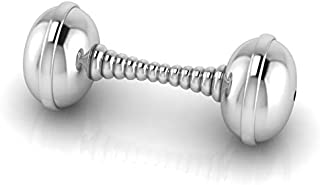Krysaliis Baby Silver Plated Spiral Dumbbell Rattle