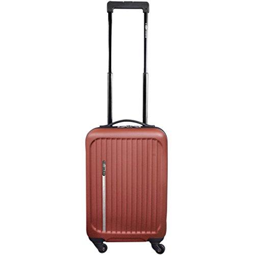 Premium Leonardo koffer, 31L koffer, handbagage, Trolley, Hard shell Boardcase (bruin)