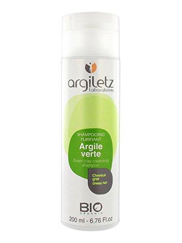 Argiletz Shampoing fraîcheur à l'argile verte cheveux gras bio 200ml