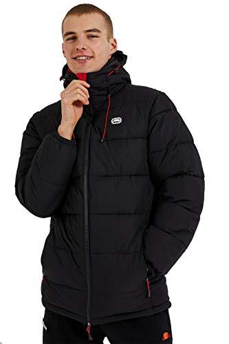 Ecko Chaqueta acolchada con capucha para hombre, color negro