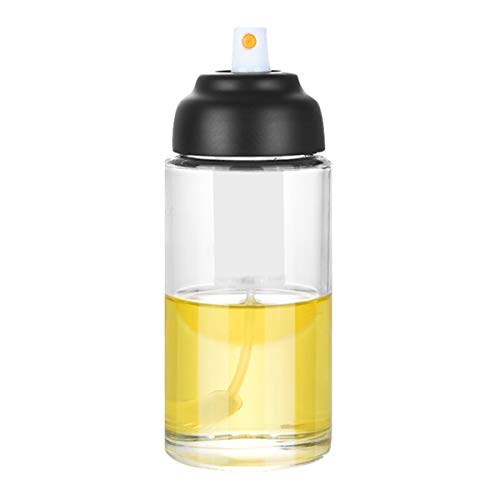 Queen.Y Dispensador de aceite de oliva para cocinar, dispensador de aceite de botella de vidrio de grado alimenticio para barbacoa/hacer ensalada/hornear/asar/asar a la parrilla/freír cocina