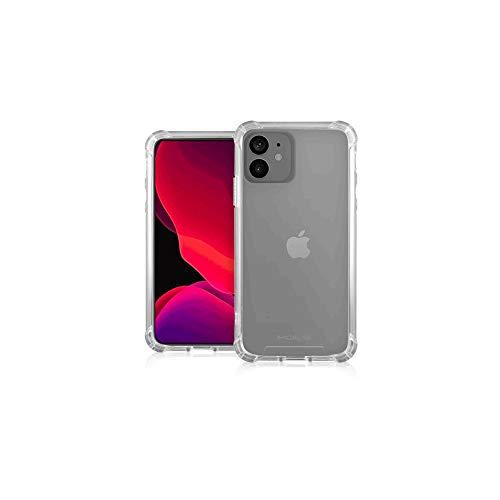 MOLS Force Basic Funda antigolpes para iPhone 12 Mini con back rígido y perfil reforzado Color Transparente