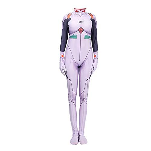 Anime EVA Ayanami Rei Cosplay Disfraz Mujeres Adulto Niño Mono Halloween Fiesta Cosplay Disfraz, Ayanami Rei, S