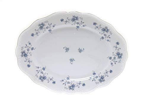 Johann Haviland Blue Garland Bavaria Germany Haviland 15' Oval Serving Platter