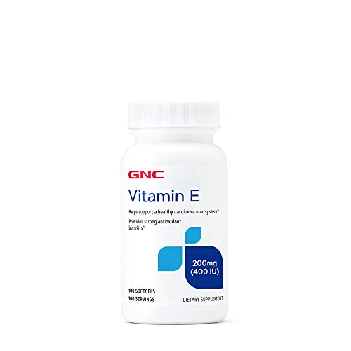 GNC Vitamin E 200mg, 100 Softgels, Supports Healthy Cardiovascular System